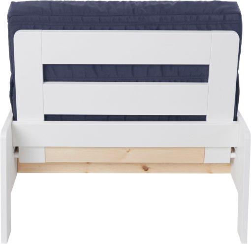Składane, białe łóżko bez materaca, 80cm