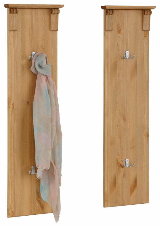 Zestaw dwóch sosnowych paneli ściennych