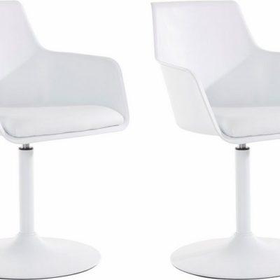 Modernistyczne, białe krzesła/hokery 2 sztuki