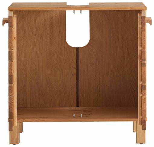 Drewniana, sosnowa szafka pod umywalkę
