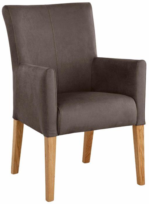 Elegancki, wygodny fotel o wyglądzie skóry
