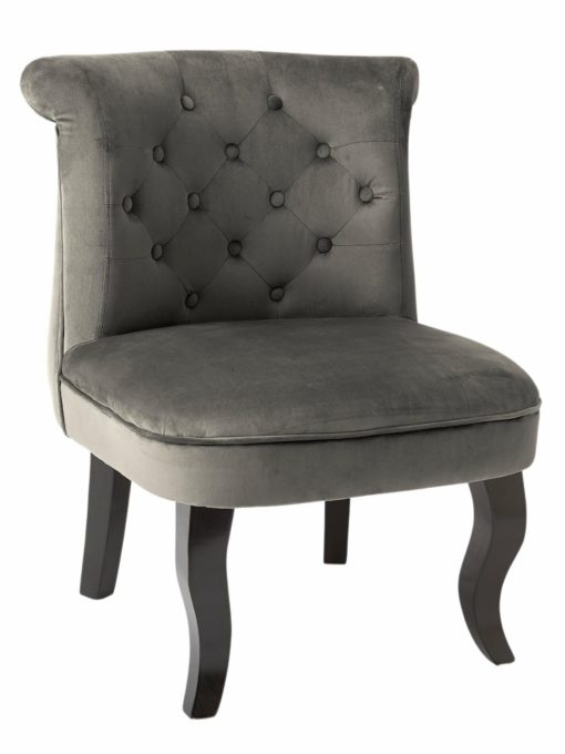 Zgrabny fotel w modnym szarym kolorze