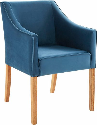 Wygodny Fotel Z Niebieskiej Mikrofibry W Stylu Lat 50 Tych Outlet