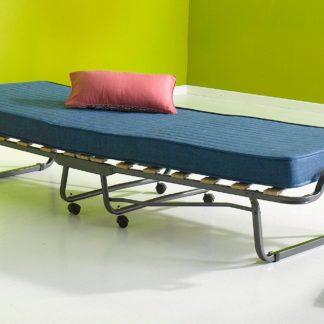 Składane łóżko np. dla gości z materacem 90x200 cm