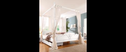 Wspaniała dekoracja łóżka, biały baldachim 180x200 cm