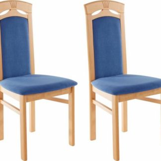 Klasyczne, ponadczasowe tapicerowane krzesła-2szt