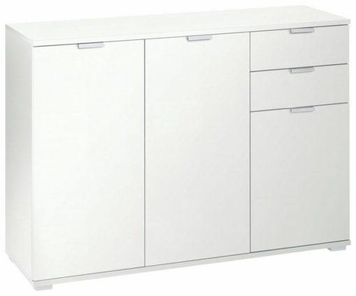 Przestronna, duża komoda w kolorze białym