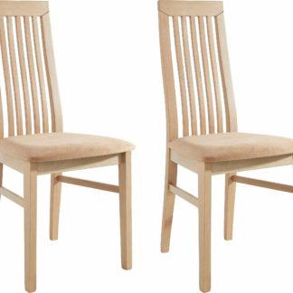 Klasyczne, drewniane krzesła tapicerowane