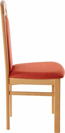 Klasyczne, tapicerowane krzesła - zestaw 2 sztuki