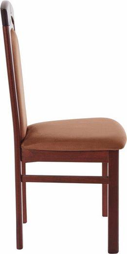 Ciemne, klasyczne, ponadczasowe tapicerowane krzesła