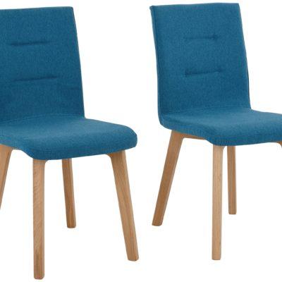 Nowoczesne krzesła z dębowymi nogami - zestaw 2 sztuki