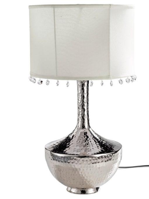 Zgrabna lampa stołowa z dekoracyjnymi kryształami