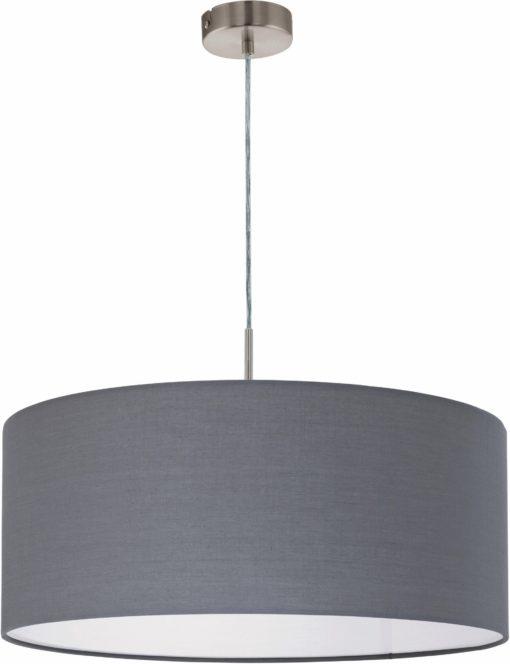 Nowoczesna i elegancka lampa wisząca z dużym abażurem