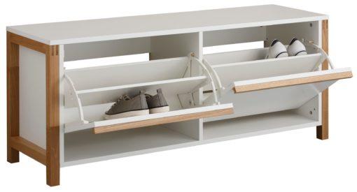 Minimalistyczna szafka na buty w stylu skandynawskim