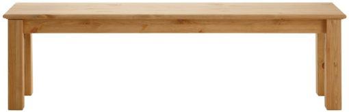 Zgrabna, duża ławka z litej sosny