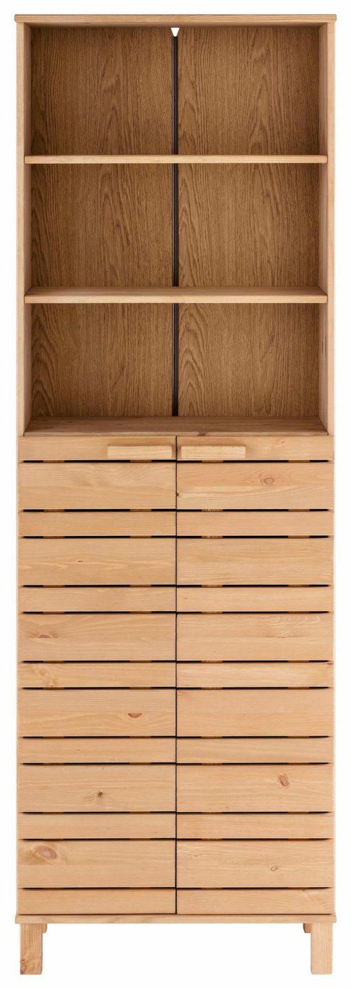 Wysoka szafka łazienkowa, sosnowa, olejowana