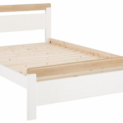 Piękne sosnowe łóżko w klasycznym stylu 140x200 cm