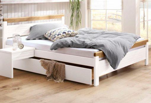 Piękne sosnowe łóżko w klasycznym stylu 160x200 cm