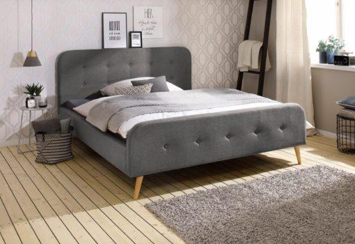 Nowoczesna rama łóżka tapicerowanego 160x200