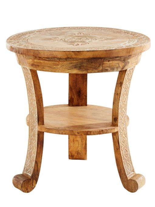 Przepiękny stolik z rzeźbionymi ornamentami