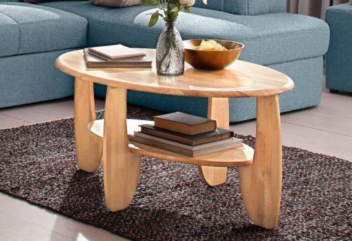 Piękny stolik kawowy/ do salonu z drewna bukowego