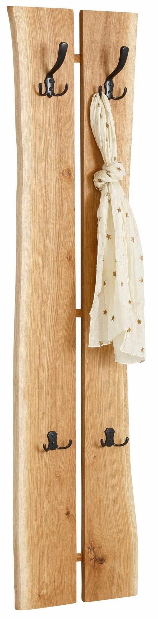 Stylowy, drewniany panel/wieszak na ubrania