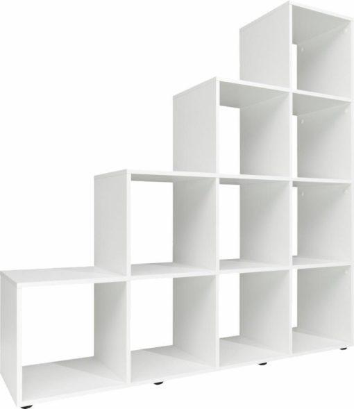Duży, nowoczesny i przestronny regał, kolor biały