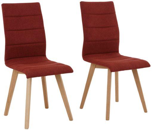 Czerwone krzesła retro, rama dębowa, mikrofibra. Klasy premium