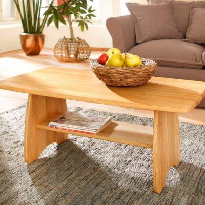 Prosty i elegancki stolik z litego drewna dębowego