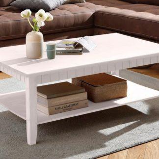 Praktyczny stolik kawowy z litego drewna sosnowego