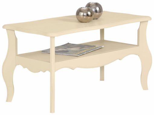 Kremowy stolik w rustykalnym stylu, sosnowy