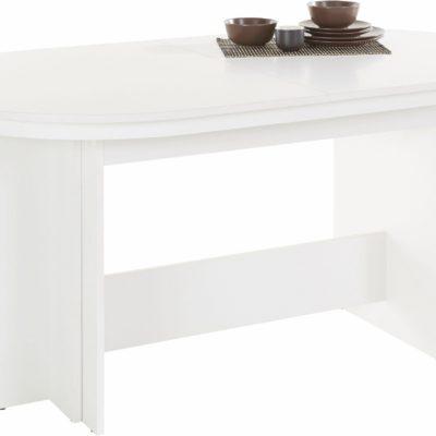 Rozkładany, biały stół o pięknym, ponadczasowym wyglądzie