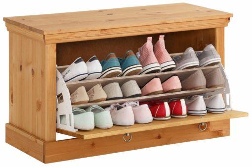 Solidna ławka na buty z litej sosny