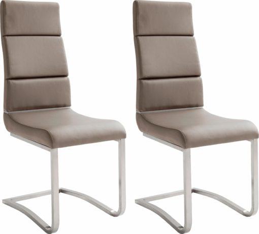 Nowoczesne krzesła z ekoskóry na płozach -2 sztuki