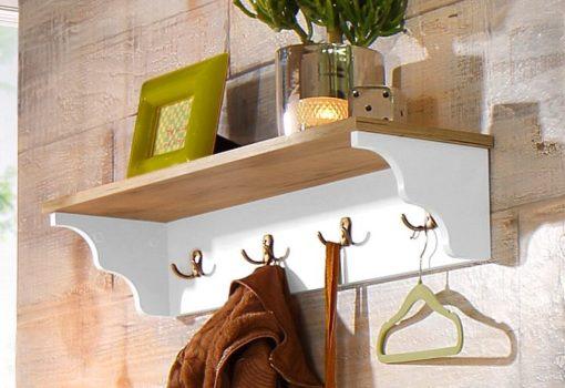 Stylowy wieszak na ubrania z półką