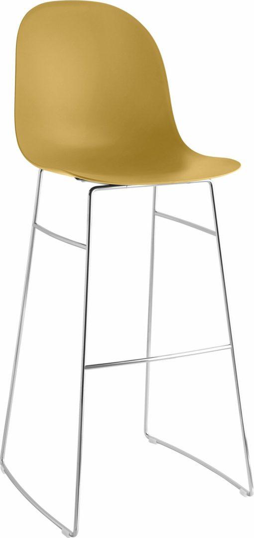 Włoski, nowoczesny stołek barowy - żółty