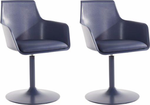 Modernistyczne, granatowe krzesła/hokery 2 sztuki