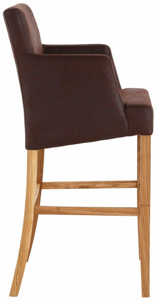 Wysokie krzesło/fotel w kolorze brązowym