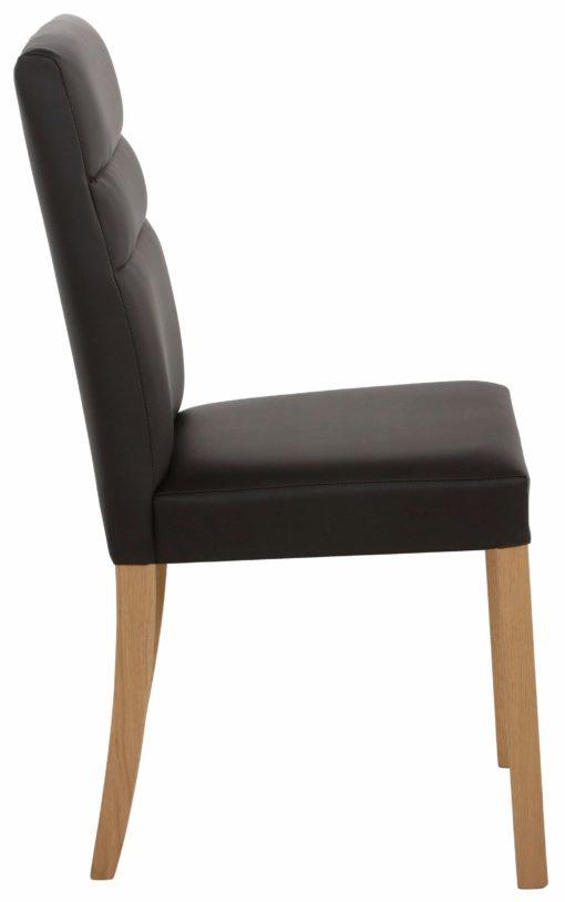 Proste krzesła tapicerowne sztuczną skórą - 2 sztuki