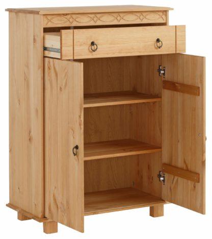 Piękna, klasyczna komoda z drewna sosnowego