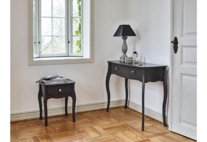 Stylowa konsola/stolik z szufladą, ciemny brąz