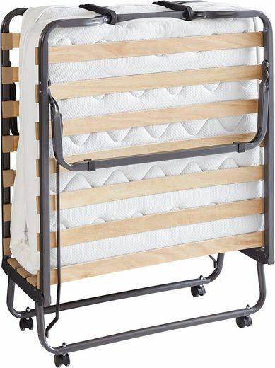 Składane łóżko polowe z materacem 90x200 cm