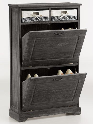 Pojemna szafka na buty z drewna paulownia