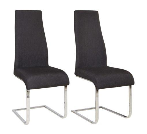 Nowoczesne krzesła na płozach w kolorze czarnym