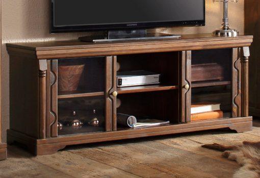 Bardzo stylowa, sosnowa szafka RTV, pięknie zdobiona