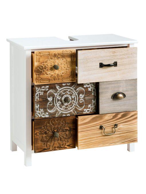 Piękna szafka pod umywalkę o oryginalnym wyglądzie