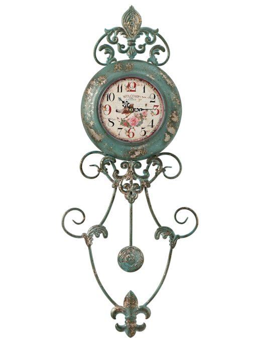 Zegar o niecodziennej formie w stulu vintage