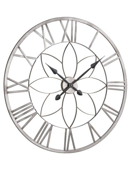Ekstrawagancki, duży zegar wykonany z metalu