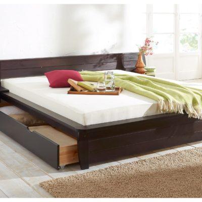 Duże sosnowe łóżko w świetnym stylu, 180x200 cm