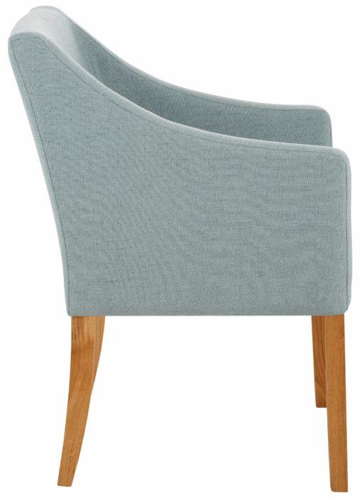 Prosty, wygodny fotel w modnym kolorze